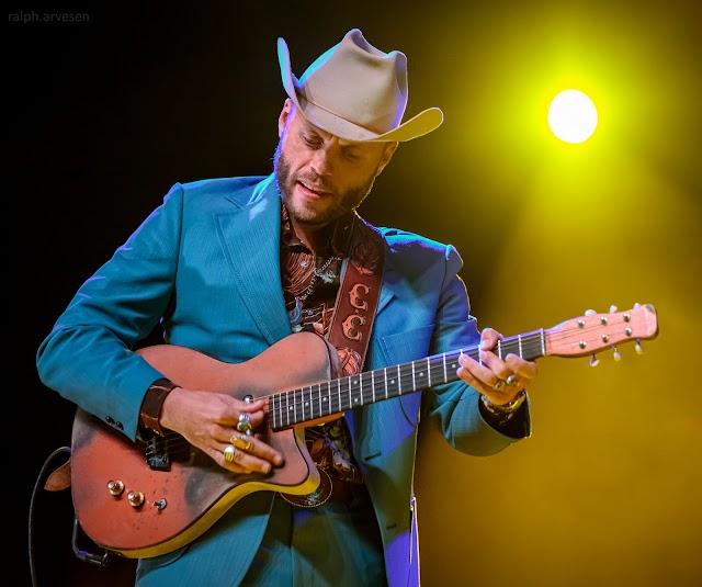 Charley Crockett performing at Love and Lightstream in Cedar Park, Texas