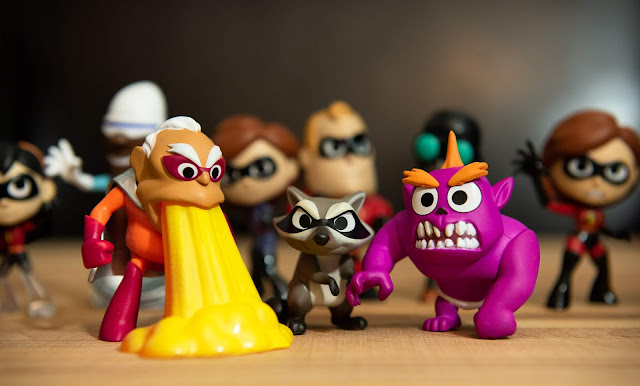 Reflux, Raccoon and Monster Jack-Jack from the Funko Incredibles 2 Mystery Minis (Target Exclusive)
