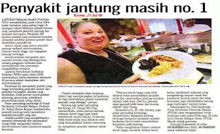 artikel keratan akhbar penyakit jantung nombor 1 satu di malaysia