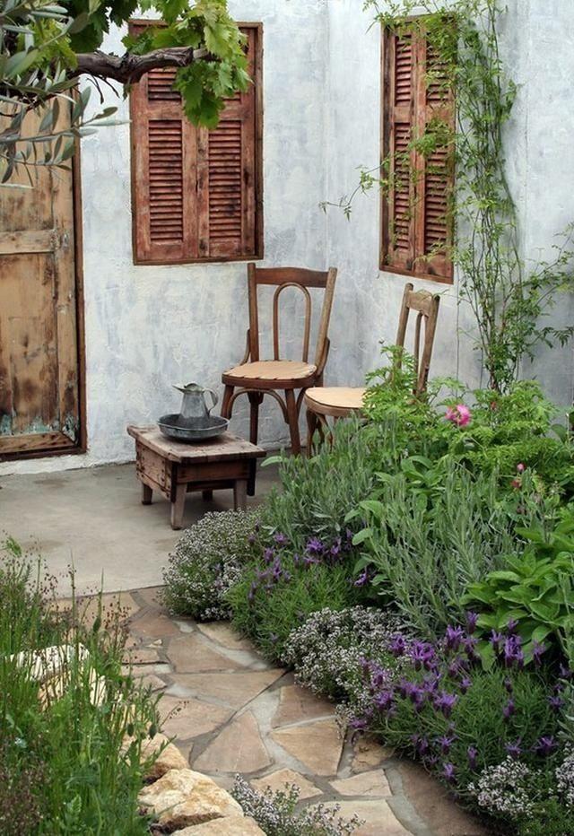 mini garden, outdoor spaces, courtyard, garden furniture, cuban courtyard