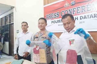 Kasus Suap, Polres Tanah Datar OTT Kepala Dinas Koperindag Tanah Datar