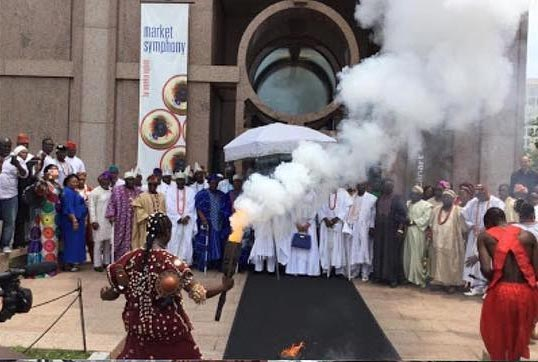 ooni ife performs rituals washington dc