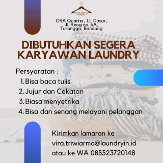 Loker laundry Bandung di tahun 2020