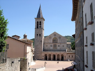 Spoleto's 12th century cathedral is a feature of this attractive Umbrian town