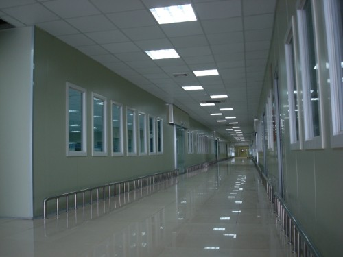 clean room corridoor epoxy paint