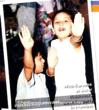 Kareena Kapoor Childhood Pictures Arnold Schwarzenegger