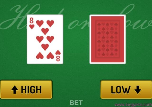 High low Card game online
