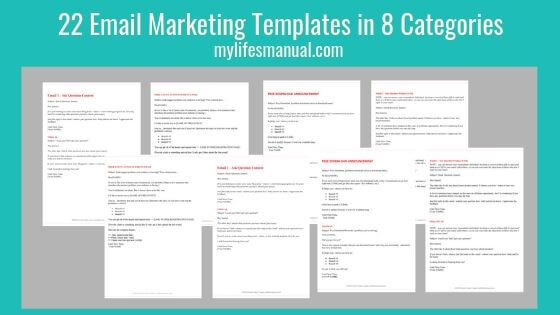 22 Email Marketing Templates for Bloggers