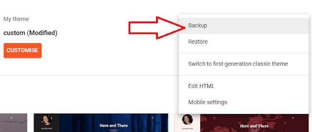Click Backup Option