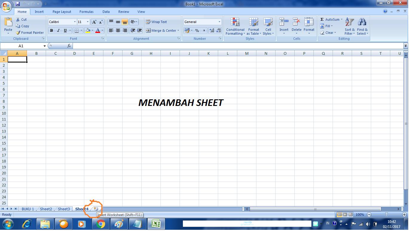Lembar Kerja Excel Yang Terdiri Dari Beberapa Worksheet