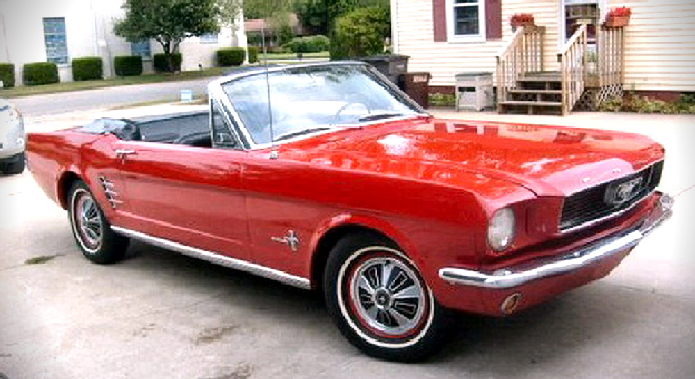 Mustang in movie : fear - 1966 mustang convertible