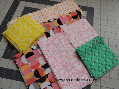 Good Vibes fabric Dropping In quilt units