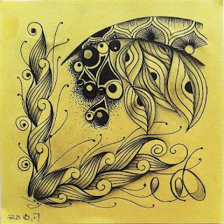 Tangle Pattern Refresher # 60 Scrolled Feather, Aura-Leah, Copada, Llilly, Eke