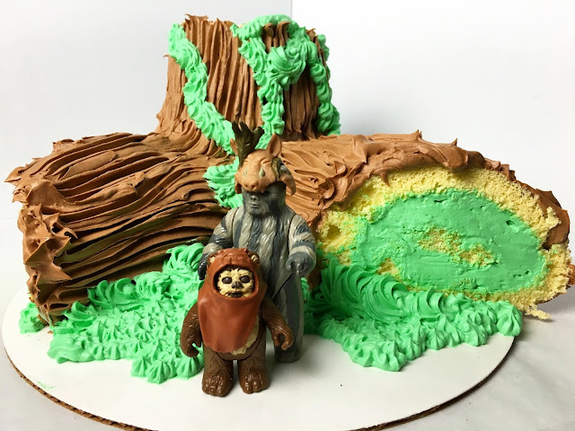 Star Wars Inspired Buche de Noel (Yule Log) with Ewoks