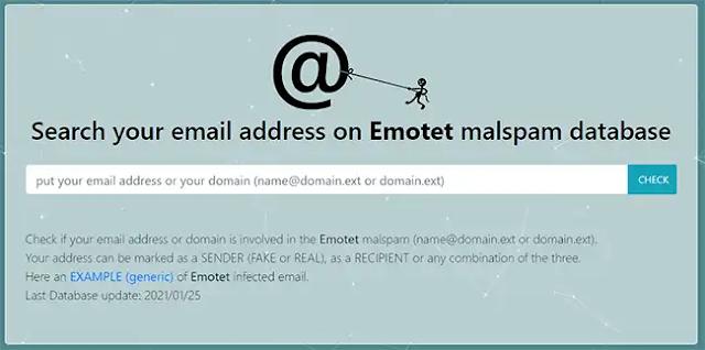 """This website allows you to check if your email or domain has been used in attacks by Emotet, """"the most dangerous malware in the world"""""""