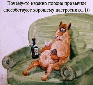 Без комментариев))) Иногда вредные привычки очень способствуют хорошему настроению - заряжая добавочной энергией