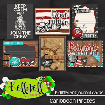 Caribbean Pirates journal cards