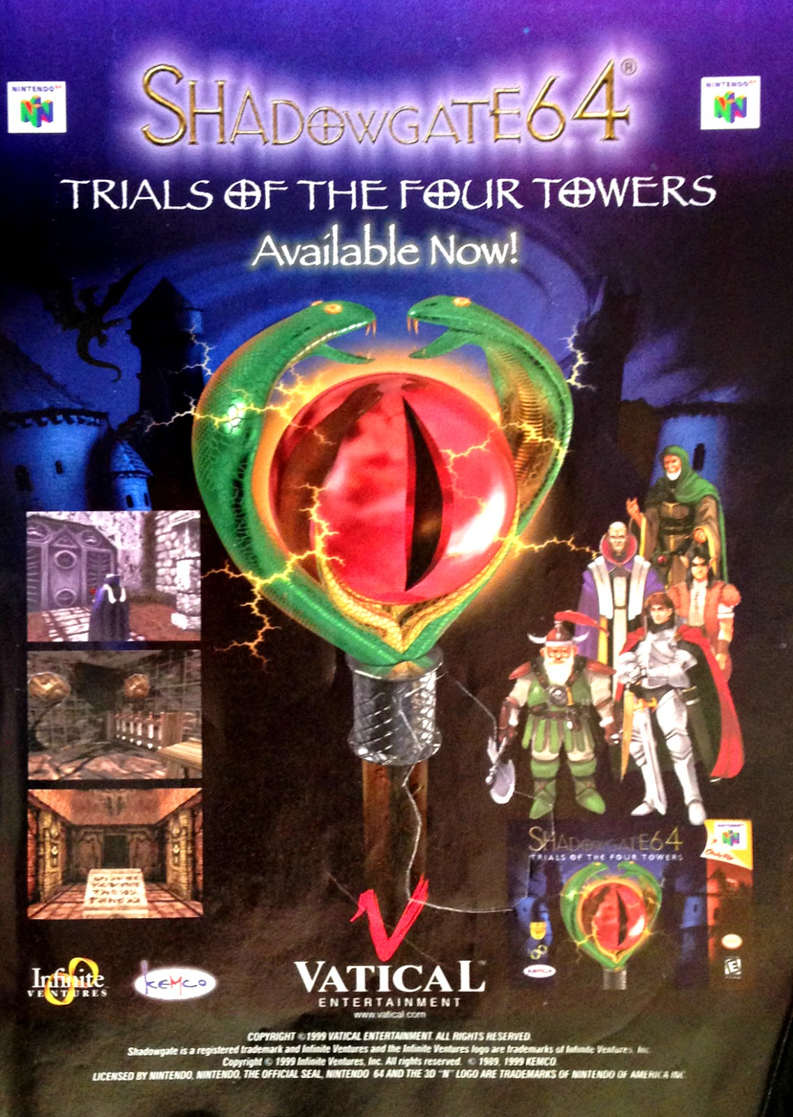 Shadowgate 64 Trial of the Four Towers advertisement
