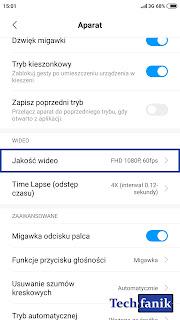 Xiaomi Redmi Note 4 MIUI 10 aparat nagrywanie w fullhd 60 klatek na sekundę