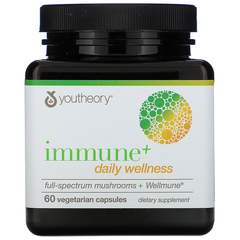 Youtheory, Immune+ Daily Wellness, 60 Vegetarian Capsules