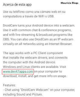 aplicacion para usar el celular como camara web
