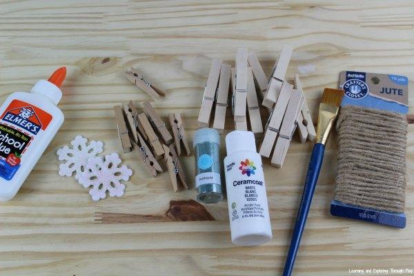 Clothespin Snowflake Craft
