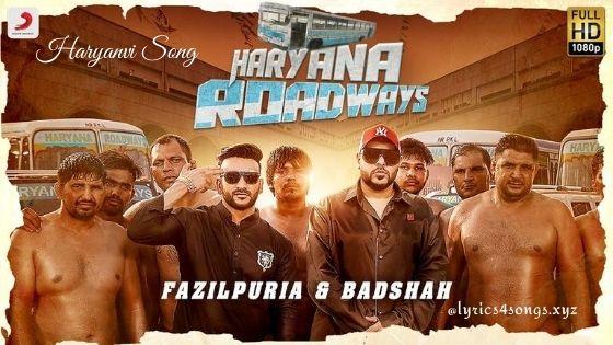 HARYANA ROADWAYS LYRICS - Badshah | Haryanvi Song | Lyrics4songs.xyz
