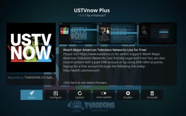 USTVnow Plus addon movie kodi terbaik