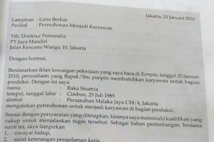 Contoh Surat Lamaran Pekerjaan Dalam Bahasa Inggris Beserta Iklannya Brainly