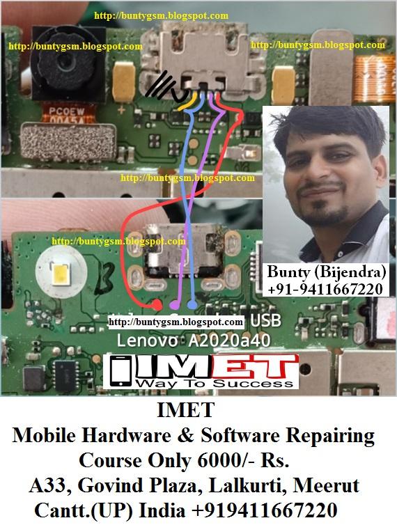 Lenovo Vibe C A2020a40 Charging USB Problem Solution Jumper Ways