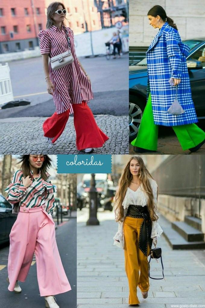 Pantalonas e calças amplas decretam o fim da skinny
