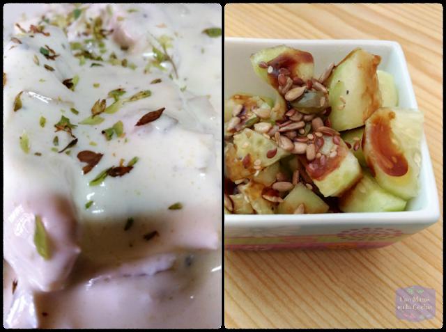 Pechuga de Pollo con Nata Vegetal de Soja y Orégano, acompañada de Ensalada de Pepino y Semillas. Receta fácil y Sin Leche