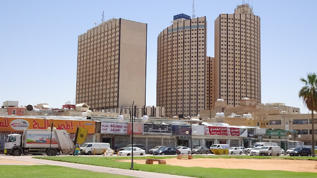 Around the resident streets in Riyadh