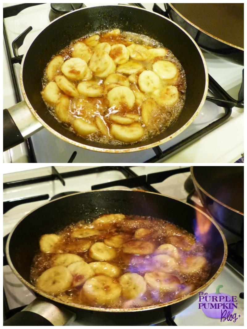 Rum Caramel Banana Pancakes