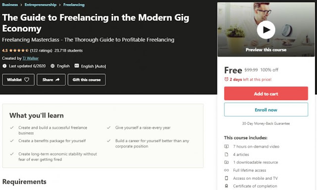 [100% Off] The Guide to Freelancing in the Modern Gig Economy  Worth 99,99$