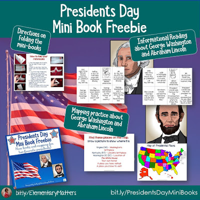 https://www.teacherspayteachers.com/Product/Presidents-Day-Mini-Books-and-Mapping-Freebie-547937