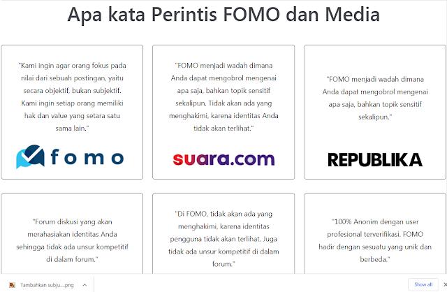 aplikasi Fomo Indonesia
