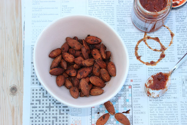 Harissa Roasted Almonds