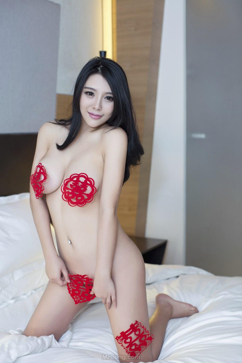 Image MrCong.com-UGIRLS-T009-nguoi-mau-trung-quoc-khoa-than-002 in post Ba người đẹp Trung Quốc khoe thân táo bạo trong bộ ảnh UGIRLS T009