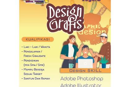 Info Lowongan Kerja Desain Grafis Gudang Printing Lombok