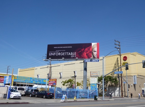 Unforgettable film billboard