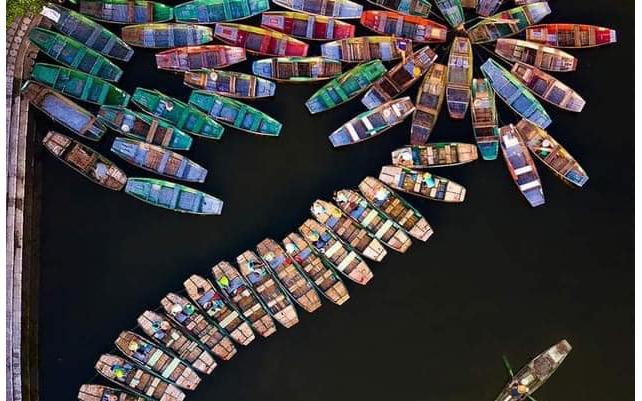 Một bến thuyền trên sông ở Nam Bộ