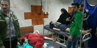 35 persons martyred, scores injured in a terrorist rocket attack on neighborhoods in Damascus