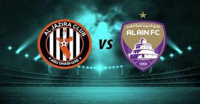 مباراة العين والجزيرة كورة كول مباشر 31-12-2020 والقنوات الناقلة في دوري الخليج العربي الاماراتي