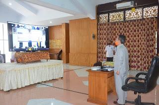 Bupati Batanghari Ikuti Rapat Paripurna Melalui Teleconference