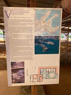 Varignano Roman Villa - Informational sign - overview