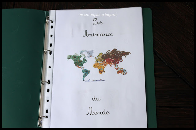 cahier des animaux du monde
