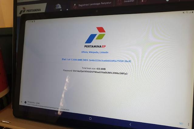 Hacker Klaim Bobol dan Bocorkan Data Internal Pertamina