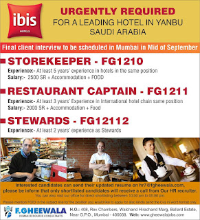 Ibis Hotels required for Yanbu