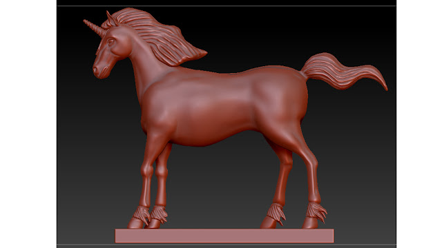 unicorn 3d model free download